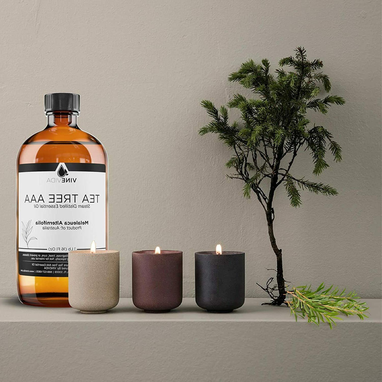 Bulk AAA Essential Oil 16 Tea Tree Glass Pure & Natural