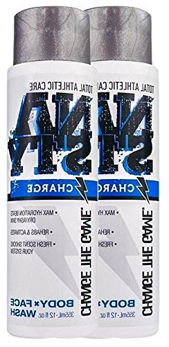 NASTY Charge Body and Face Sports Wash with Caffeine, Shea B