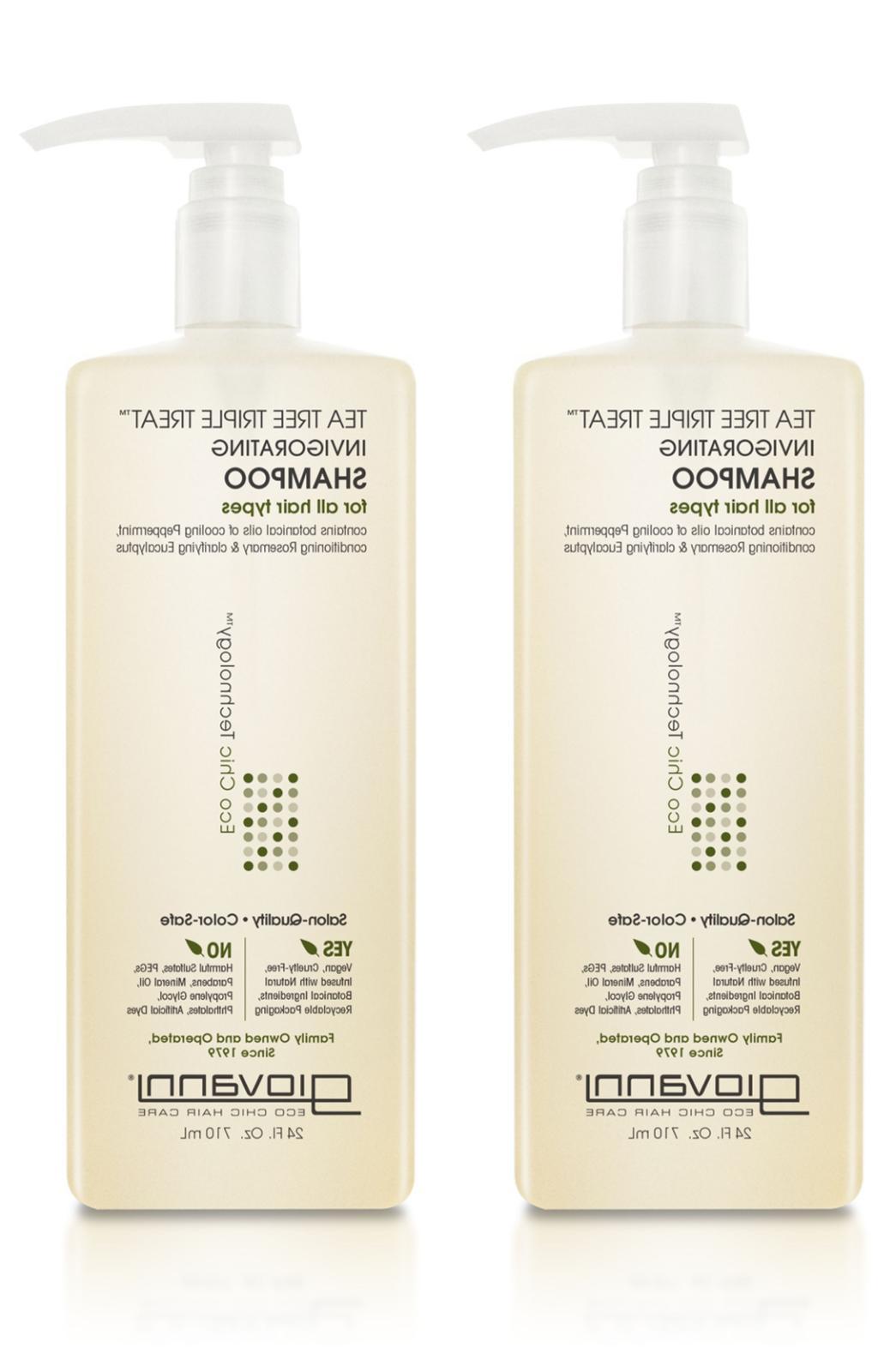 GIOVANNI Organic Tea Tree Triple Treat Shampoo, 8.5 Ounce -