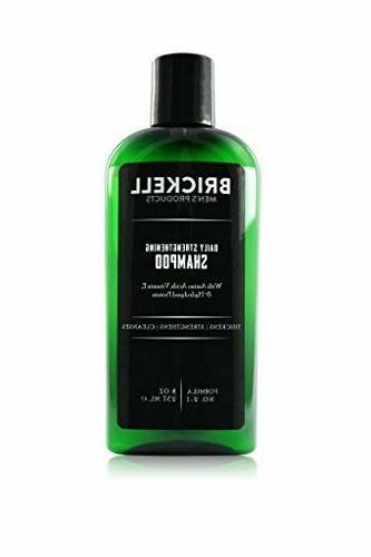 Brickell Men's Daily Strengthening Shampoo for Men – 8 o