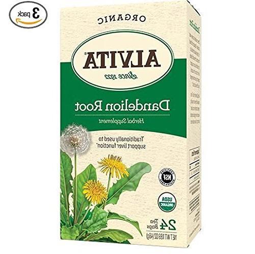 Alvita Dandelion Root Tea Bag Organic 24 Count