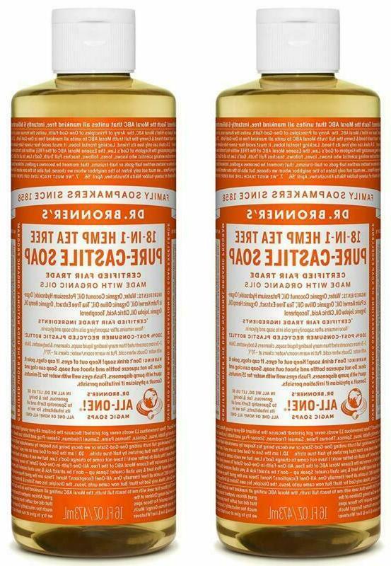 Dr. Bronner'S Organic Pure Castile Liquid Soap, Tea Tree Oil