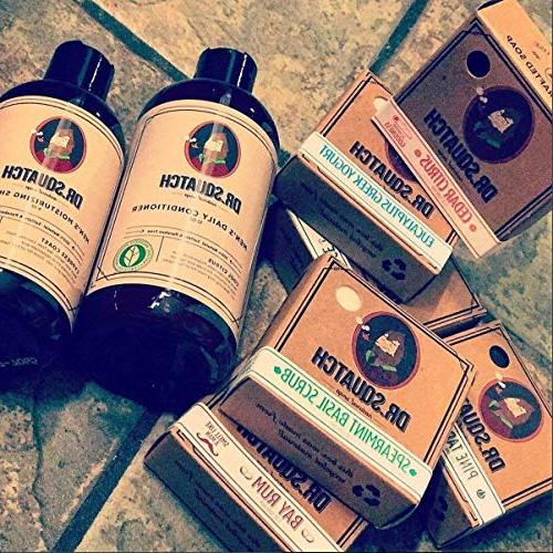 Dr. Squatch Natural Shampoo – Dry Prevent Hair Loss with Moisturizing Tree Oil Shampoo for