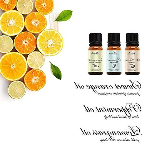 Essential Oils Top 6 Therapeutic Grade Aromatherapy Oil Set for