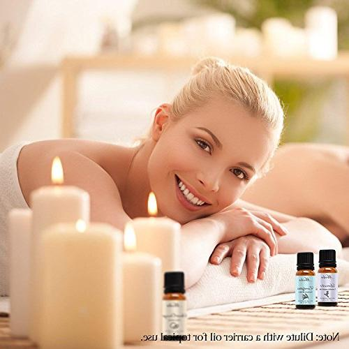 Essential Oils by Mooka, Top 6 Therapeutic Grade Aromatherapy for Diffusers