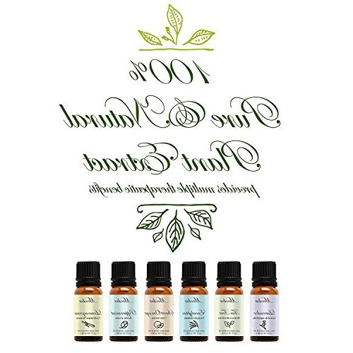 Essential by Mooka, Top 6 Therapeutic Grade Oil Set for Diffusers