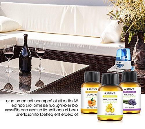 Essential 14-8 ml Pure Ylang,Lavender,Jasmine,Orange,Peppermint,Grapefruit,Clary