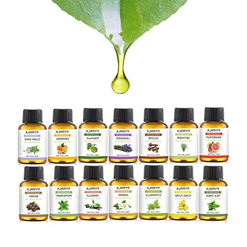 Essential 14-8 ml Grade Pure Oil Tea Tree,Ylang Ylang,Lavender,Jasmine,Orange,Peppermint,Grapefruit,Clary