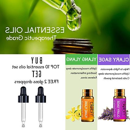YIDIOLA Pure Therapeutic Grade Oil w/2 Droppers,Lavender/Peppermint/Eucalyptus/Frankincense/Tee Tree/Lemon/Sweet Sage