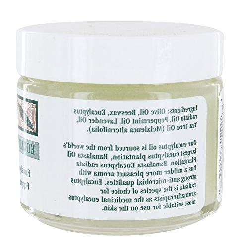 Tea Tree Therapy Eucalyptus Chest Tree Oil, Beeswax, Eucalyptus 2 oz.