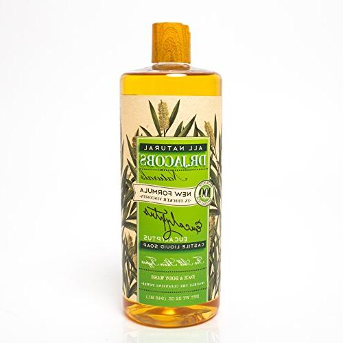 Dr. Jacobs Naturals Face & Body Wash, Eucalyptus, 32 Ounce