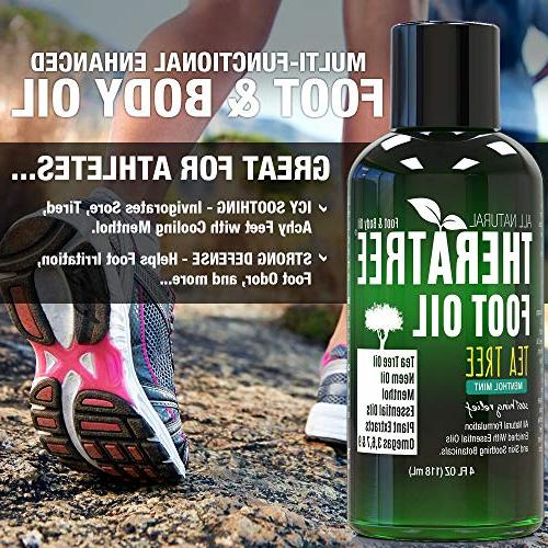 Foot with Tree Oil, and Mint - Helps Skin -