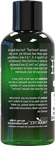 Foot Oil with Tea Tree Oil, Neem and Menthol Helps Skin Irritation and Foot – -
