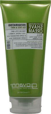 GIOVANNI HAIR CARE PRODUCTS SHAVE CRM,TEA TREE&MINT, 7 OZ