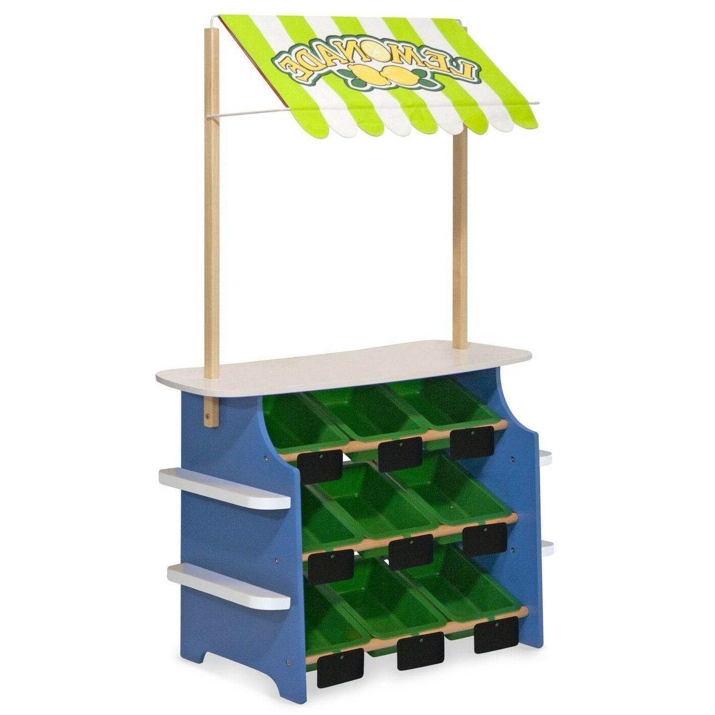 Wooden Grocery Lemonade Stand Kid Toy Toddler Activity