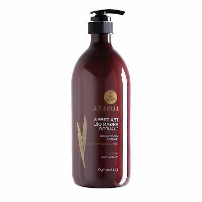 Luseta Tea Argan Oil Shampoo for Oily Hair Sulfate Free