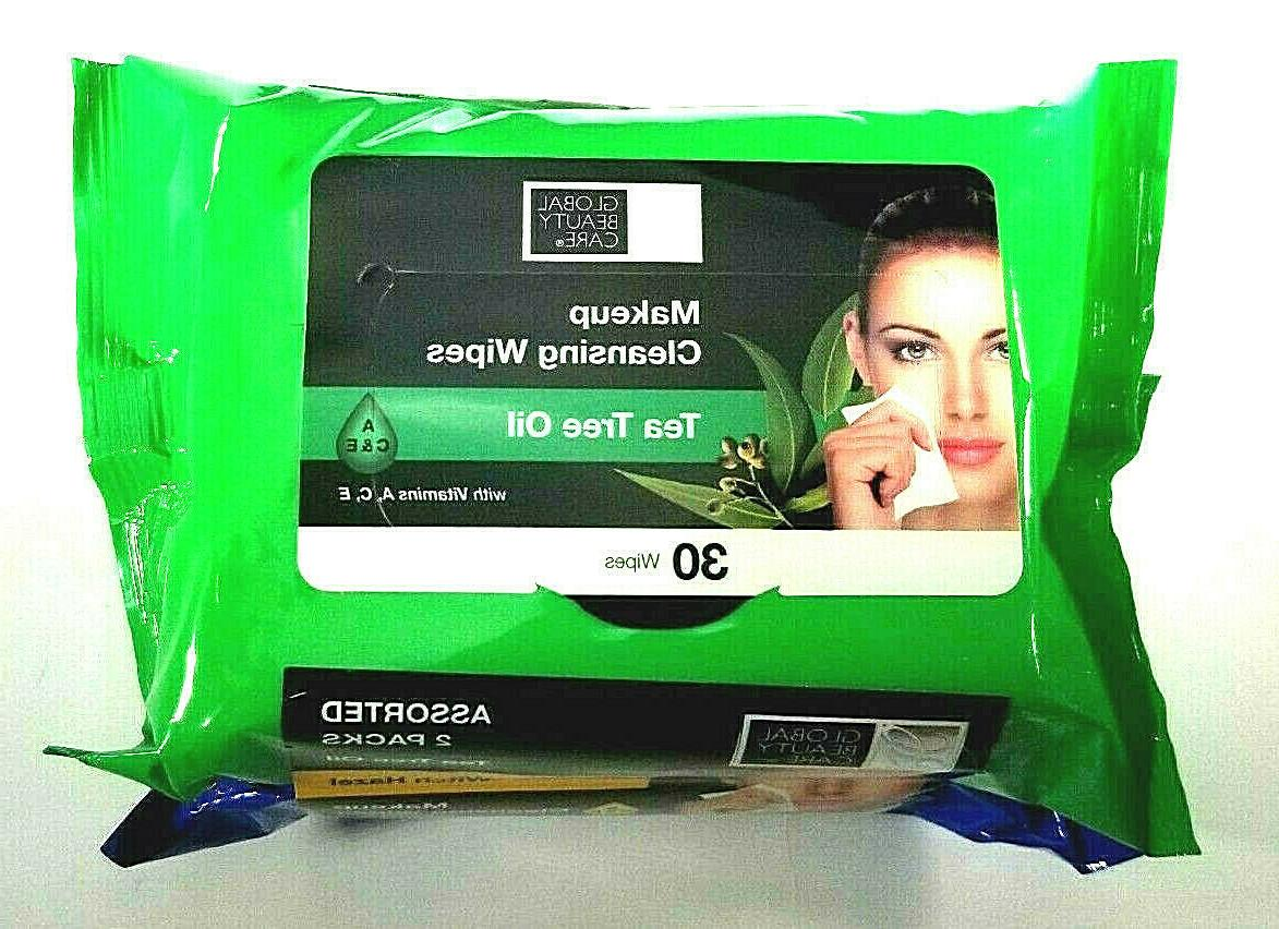 Makeup Cleansing Wipes Beauty Care Tea Tree/Witch