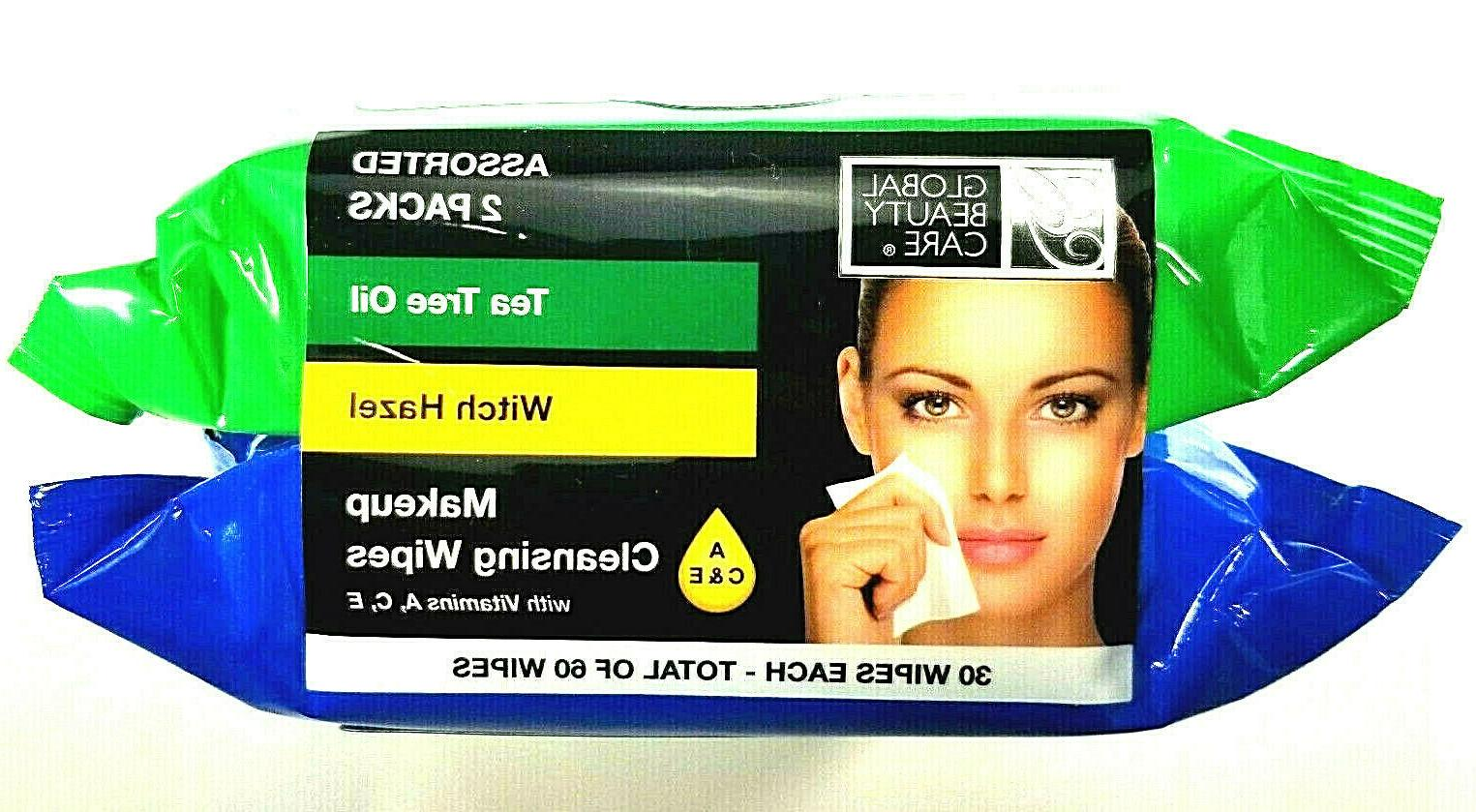 makeup cleansing wipes assorted 2pk tea tree