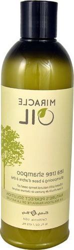 Earthly Body Miracle Oil Tea Tree Shampoo -- 16 fl oz - 2PC