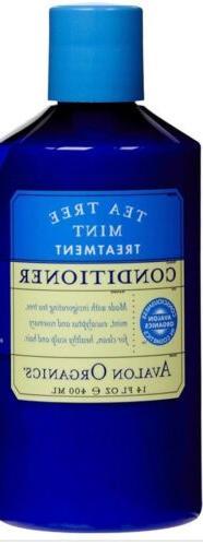 New Avalon Organics Tea Tree Mint Conditioner  14 oz - FREE