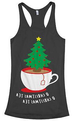 O Christmas Tea Tree Women's Racerback Tank Top Funny Holida
