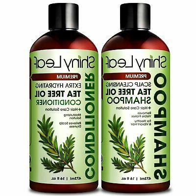 Tea Tree and Conditioner Set - Natural Anti Dandruff & Lice Treatmen