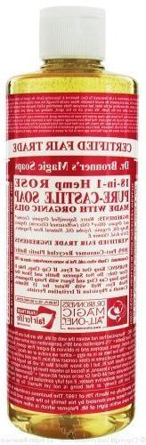 Dr. Bronner's Organic Pure Castile Liquid Soap Rose -- 16 fl