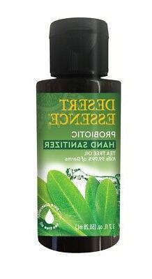 Probiotic Hand Sanitizer Tea Tree Desert Essence 1.7 oz Liqu