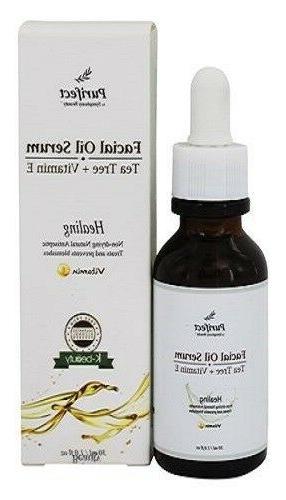 Purifect 100 % Natural Healing Facial Oil Serum Tea Tree + V