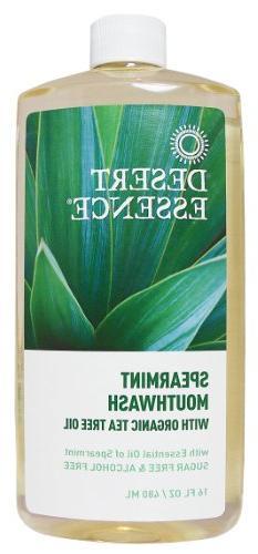 Desert Essence Natural Refreshing Tea Tree Oil Mouthwash - 1