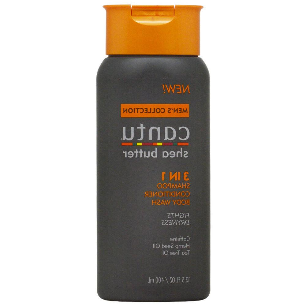 Cantu Shea Butter Men's Collection 3 in 1 Shampoo, Condition