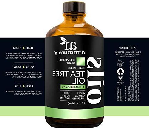 "ArtNaturals Tree Essential - Premium Therapeutic with Face and - Lice"""