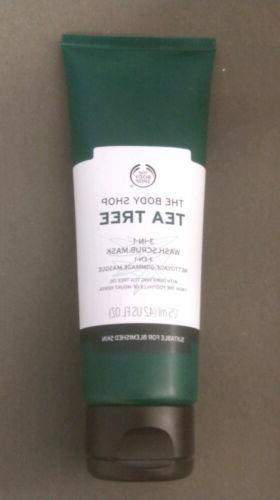 tea tree 3 in 1face wash scrub