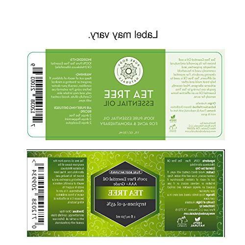 Tea Tree Oil, Tea Tree Oil Acne, Hair and 100% Oil by Body Naturals, 1 Ounce