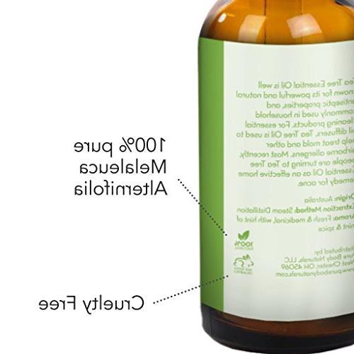 Tea Tree Essential Oil, Tea for Acne, Diffuser, 100% Melaleuca by Body 1