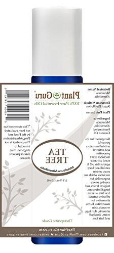Tea Oil Roll On 10 Pre-diluted with Oil, Grade of Alternifolia, Great Body Hair