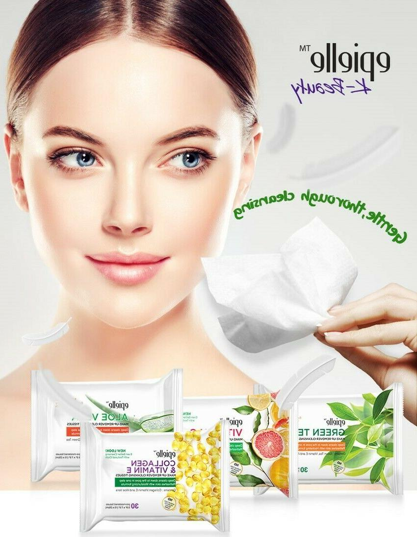 epielle® Tea Tree Facial Makeup Removing Cleansing Wipes,