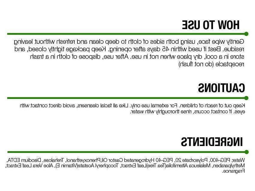 epielle® Tree Makeup Wipes, 30ct
