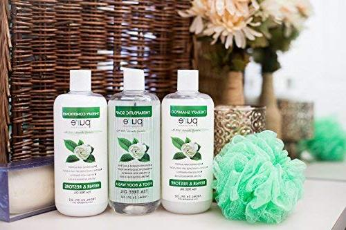 PURE Oil Shampoo Conditioner 26.5 oz. Tea Shampoo Tea Tree Conditioner for Deep Cleansing Itchy &