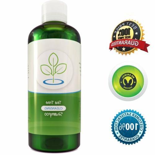 Tea Tree Oil Shampoo for Dandruff Sulfate Free Antibacterial
