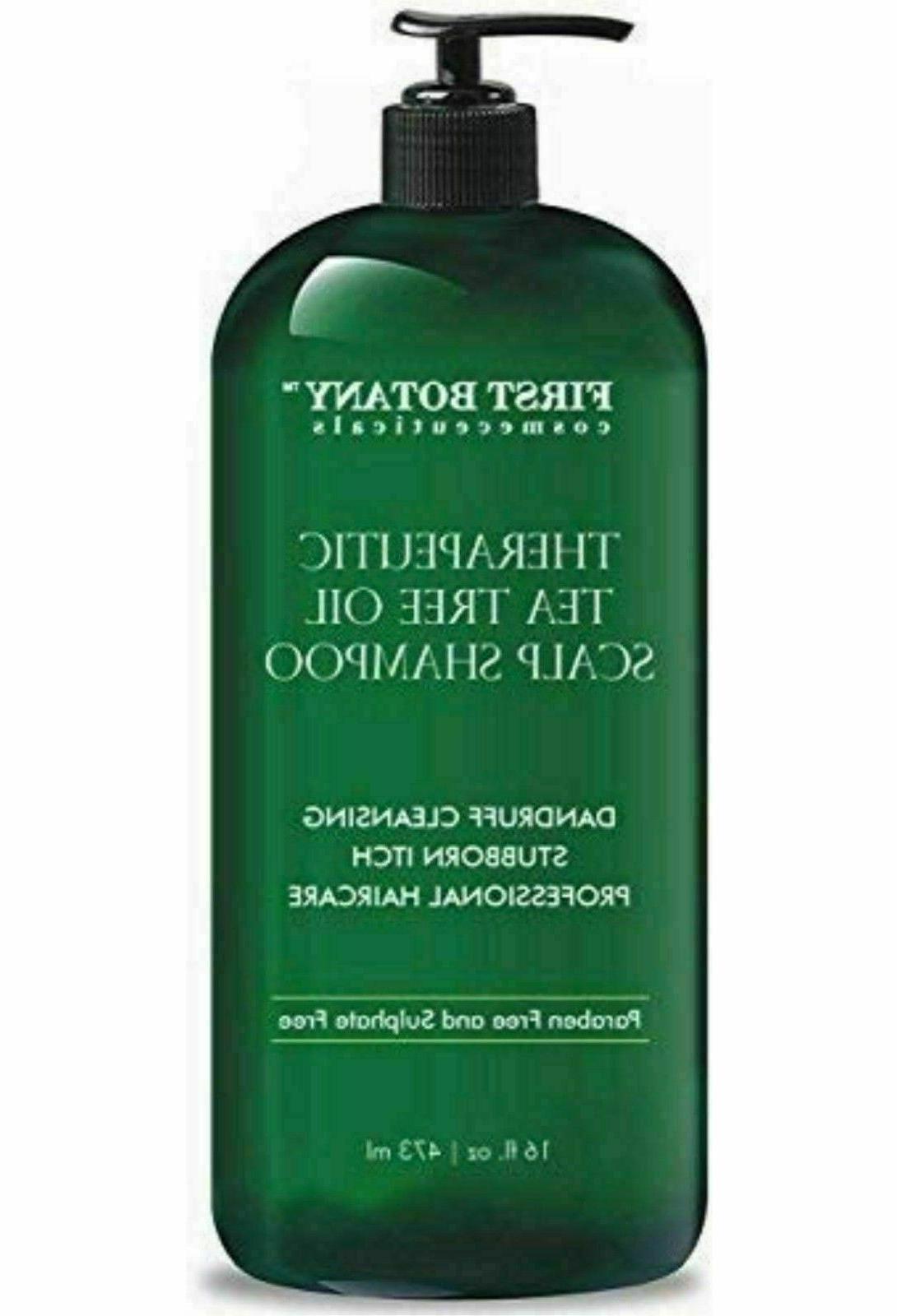 Tea Tree Oil Shampoo 16 fl oz Anti Dandruff Natural For Dry