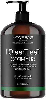 Tea Tree Oil Shampoo Fight Dandruff Dry Hair and Itchy Scalp