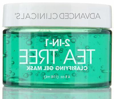 Advanced Clinicals Tea Tree Oil Mask. 2-in-1 overnight sleep