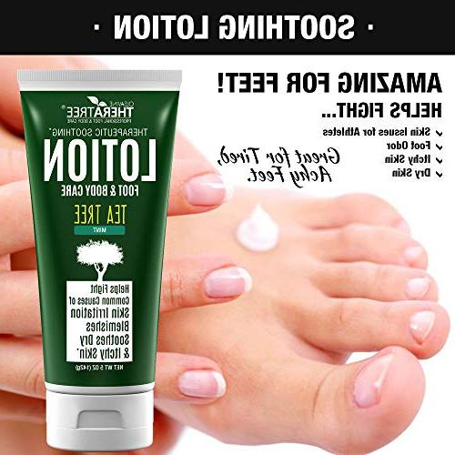 Tea Tree with Neem Foot Helps Soothe Skin and Fight Body Odor -