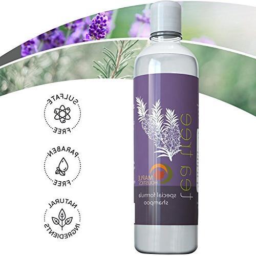 Pure Tea Oil Shampoo - Oil Anti-Dandruff For Dry Scalp Anti-Bacterial Hydrating Cleanser Head Hair