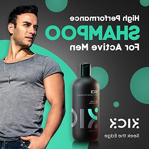 Mens Shampoo Kick -Tea Oil with Peppermint - + Sulfate Shampoo for -Powerful for