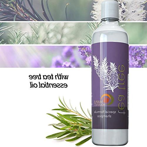 Pure Shampoo Natural Essential Oil Dry Itchy Scalp - Anti-fungal & Anti-Bacterial Sulfate Hydrating Head Lice Hair