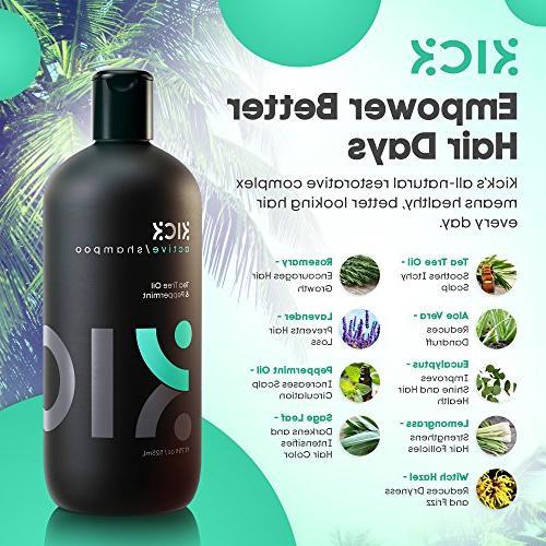 Mens Shampoo by -Tea Shampoo with for - Itchy Scalp + Sulfate Shampoo -Powerful Shampoo
