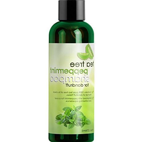 Tea Tree Shampoo with Mint and Jojoba - Color Free for Kids, Women and Money-back Guaranteed Made