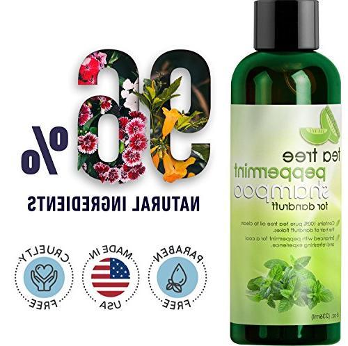 Tea Shampoo with Organic and Jojoba Color Safe and Sulfate Free for Kids, and - Money-back and USA Made